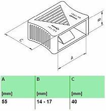 10er Paket Härteverstellungsschieber in schwarz für Lattenroste (55x14-17x40 mm Breite x Höhe x Tiefe)