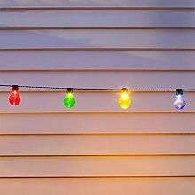 10er Party Solar Zirkus Lichterkette bunte Plexiglas Kugeln Lights4fun