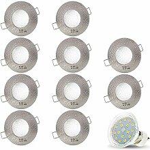 10er Set AQUA IP44 230V LED SMD 4W Kaltweiß