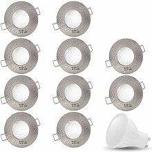 10er Set AQUA IP44 230V LED SMD 7W Kaltweiß
