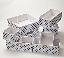 10er Set Aufbewahrungsbox für Schubladen