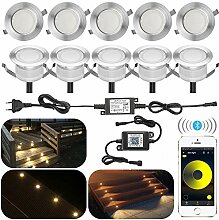 10er Set Bluetooth Dimmbar Warmweiß Led