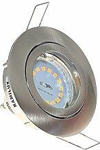 10er Set Einbaustrahler Lino + 7Watt GU10 SMD-LED