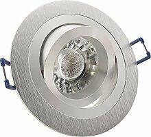 10er Set Einbaustrahler NOBLE 2 Aluminium; 230V;