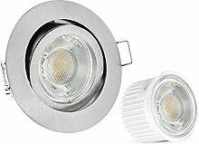 10er Set extra flache LED Einbaustrahler flach