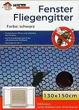 10er Set Fenster Fliegengitter schwarz 130x150cm | Fliegennetz | Insektenschutz