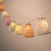 10er Set Laternen aus Papier für LED Lichterketten Pastellfarben Ostern Deko