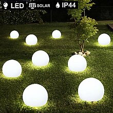 10er Set LED Außen Solar Lampen Kugel Design Erd