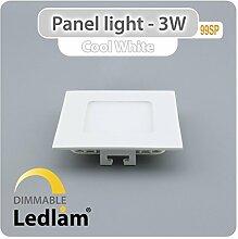 10er Set LED Einbauleuchte weiß 3 Watt