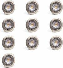 10er SET LED Einbaustrahler Spots Flach schwenkbar