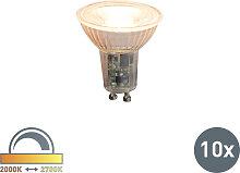 10er Set LED-Leuchtmittel GU10 240V 5,5W 420lm