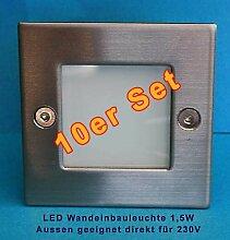 10er Set LED Wandeinbauleuchte LED