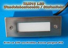 10er SET - LED Wandeinbauleuchte LED weiß 230V,