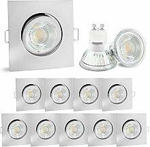 10er Set linovum® LED Einbauleuchte
