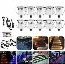 10er set Spotlight Bodeneinbauleuchte RGBWW (4 in