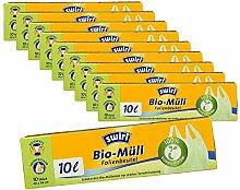 10er SET Swirl® Bio-Müll-Folienbeutel 10l mit