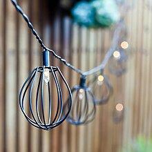 10er Solar LED Ballon Käfig Lichterkette Elwood Lights4fun