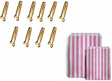 10er Stück Edelstahl Zuckerzange Set, 25 Candy