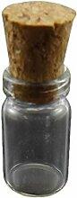 10er Transparentes Glas Leere Flasche, Perlen,