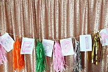 10FTx10FT-Blush-Pailletten Kulisse, Fotografie Hintergrund, Party Kulissen Weihnachtsfeier Halloween Dekoration