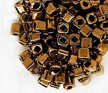 10g Bronze-Metallic-Würfel Glas-japanische TOHO
