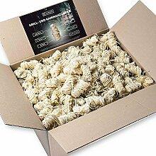 10kg Anzünder aus Holzwolle und Wachs I Giftfrei & Geruchlos & rauchfrei mit intensiver Brenndauer I perfekt als Kamin-Anzünder, Ofen- oder Grillanzünder
