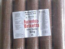 10kg Holzbriketts Buchenholzbriketts Rund Buche