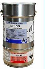 10kg Lichtblau blau RAL5012 Beschichtung Epoxid Epoxi Farbe für den Wandbereich Wandfarbe Wandversiegelung, ca. 40qm, ablaufbeständig