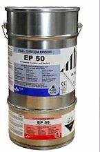 10kg Platingrau grau RAL7036 Beschichtung Epoxid Epoxi Farbe für den Wandbereich Wandfarbe Wandversiegelung, ca. 40qm, ablaufbeständig