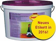 10L Pigrol Latexfarbe weiss Wandfarbe Innenfarbe