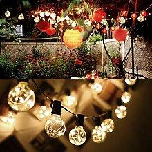 10M 30 Bulbs G40 Außen Deko String Glühbirnen