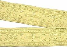 10m Kreuz Borte Webband 35mm breit Farbe: Beige