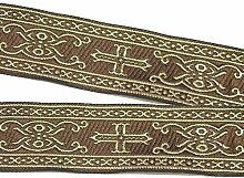 10m Kreuz Borte Webband 35mm breit Farbe: