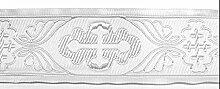 10m Kreuz-Borte Webband 50mm breit Farbe: