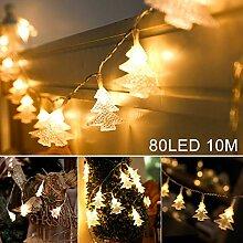 10M LED Weihnachtsbaum Lichterkette, Sinicyder 80