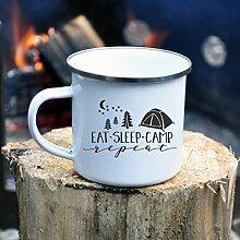 10oz Enamel Mug, Enamel Camping Mug, Personalized