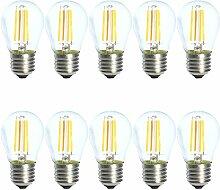 10pcs 4W E27 G45 Dimmbar LED Filament Glühfaden