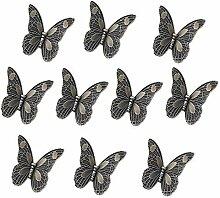 10PCS 85mm Europäische Stil Butterfly Form Bronze