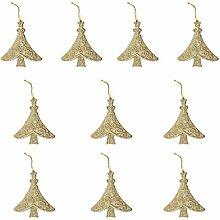 10pcs Glitzerbaumform Weihnachtsbaumdekoration