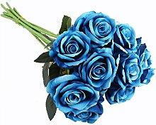 10Pcs Künstliche Rosen Blumenstrauß Brautstrauß