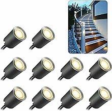10PCS LED Einbaustrahler, ONLT Terrassen
