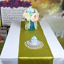 10PCS Tang MoineSatin Tischläufer Für Hochzeit Bankett-Dekoration,Yellow