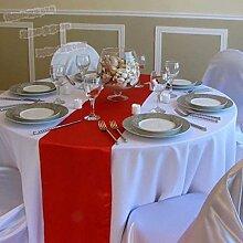 10PCS Tang MoineSatin Tischläufer Für Hochzeitsfest-Verpflichtungs-Ereignis-Geburtstags-Abschluss-Bankett-Dekoration (Farben Optional),Red