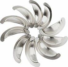 10pcs Vintage-Silber-Möbelgriff Möbelknopf Schublade Schale 80 x 35mm - Silber