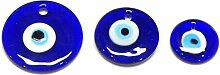 10stk Nazar Boncuk Boncugu 3/4/5 cm, Blaues Auge,