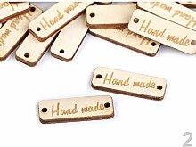 10stück 2 Buche Holzschild/Etikette Handmade