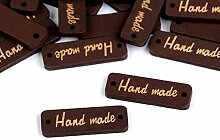 10stück Nuss Holzschild/Etikette Handmade