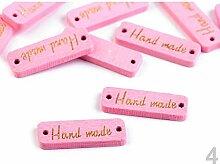10stück Rosa Holzschild/Etikette Handmade