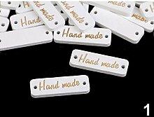 10stück Weiß Holzschild/Etikette Handmade