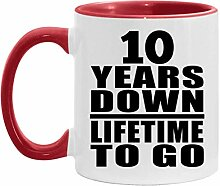 10th Anniversary 10 Years Down Lifetime To Go -